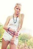 Blond women. Wonderful blond woman in nature Royalty Free Stock Photo