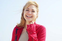 Blond women smiling Royalty Free Stock Photo