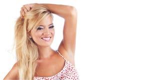 Blond wonderful women. Portrait of wonderful blond woman, studio shot Royalty Free Stock Images