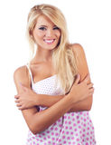 Blond wonderful women. Portrait of wonderful blond woman, studio shot Royalty Free Stock Photo