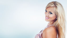 Blond wonderful women. Portrait of a wonderful blond woman, studio shot Royalty Free Stock Images