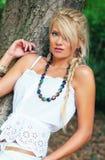 Blond wonderful women. Wonderful blond woman in nature Royalty Free Stock Image