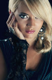 Blond wonderful women. Wonderful blond woman in nature Royalty Free Stock Images