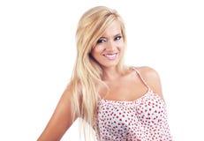 Blond wonderful women. Portrait of wonderful blond woman, studio shot Stock Photos