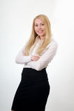 Blond yong woman employee Royalty Free Stock Photo