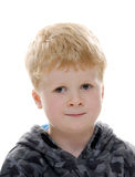 Blond young boy Stock Images