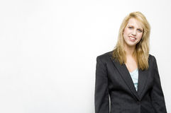 Blond young businesswoman Stock Photos