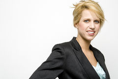 Blond young businesswoman Stock Photo