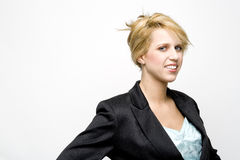 Blond young businesswoman Stock Image