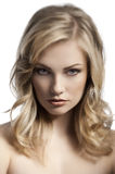 Blond young lady portrait Royalty Free Stock Image
