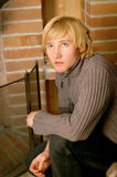 Blond young man Royalty Free Stock Image
