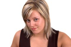Blond Young Woman royalty free stock photos