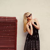 Blond young woman posing Royalty Free Stock Photo