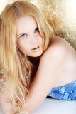 blond złocista kobieta Obrazy Royalty Free