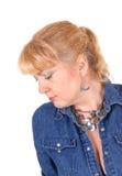 blond zbliżenia portreta kobieta Obraz Stock