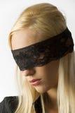 blonda ögon snör åt Royaltyfria Foton