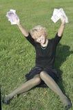blonda flickapengar Arkivbild