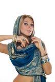 blonda indiska smycken Arkivfoton