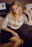 Blonda kvinnor Fotografering för Bildbyråer