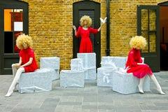 blonda skyltdockor Royaltyfri Fotografi