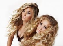 blonda systrar Royaltyfria Bilder
