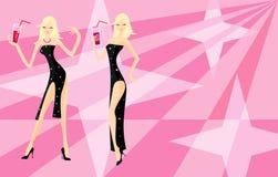 blonda två kvinnor Arkivbilder