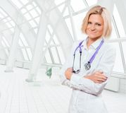 Blonde Ärztin Stockbilder