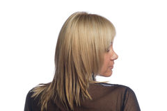 Blonde. Beautiful blonde woman on portrait back Stock Photo
