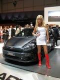 Blonde. 82nd Geneva Motorshow, 2011 Royalty Free Stock Photo