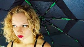 Blonde adolescente femenino imagen de archivo