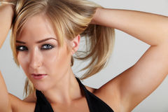 Blonde adult woman Stock Photography