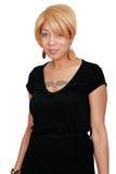 Blonde Afroamerikanerfrau Stockfoto