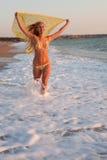 Blonde al mare Fotografia Stock Libera da Diritti
