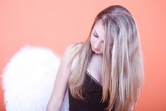 Blonde angel Stock Photo