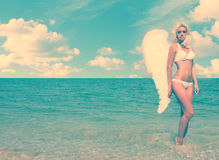 Blonde Angel Girl Royalty Free Stock Images