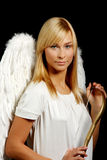 Blonde angel portrait Royalty Free Stock Image