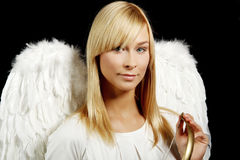 Blonde angel portrait Stock Images