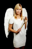 Blonde angel portrait Royalty Free Stock Photos