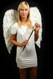 Blonde angel portrait Royalty Free Stock Photo
