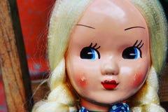 Blonde antike Puppe Stockbild