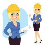 Blonde Architect Woman Royalty Free Stock Image