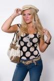 Blonde Art- und Weisehaltung Lizenzfreie Stockfotografie
