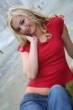 Blonde atractivo Fotografía de archivo
