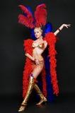 Blonde atractivo en traje de la etapa Imagen de archivo libre de regalías