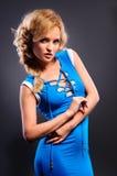 Blonde atractivo hermoso Imagen de archivo