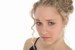 Blonde atractivo triste Fotografía de archivo libre de regalías