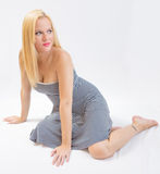 Blonde attraktive Frau Lizenzfreie Stockbilder
