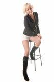 Blonde Aufstellung im Studio Stockfotos