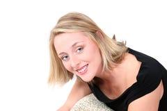 Blonde aux yeux bleus Photographie stock libre de droits