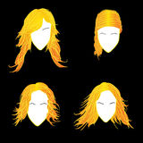Blonde avatars Royalty Free Stock Image